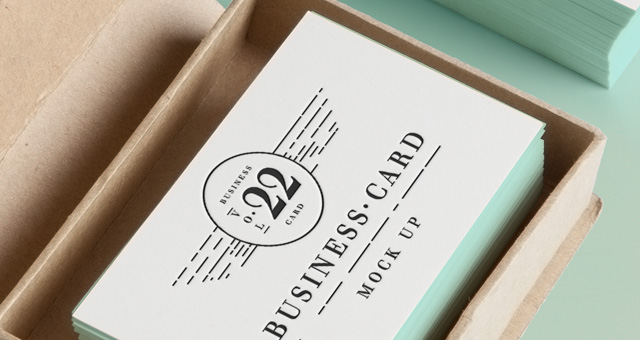 Psd Business Card MockUp Vol22   Psd Mock Up Templates