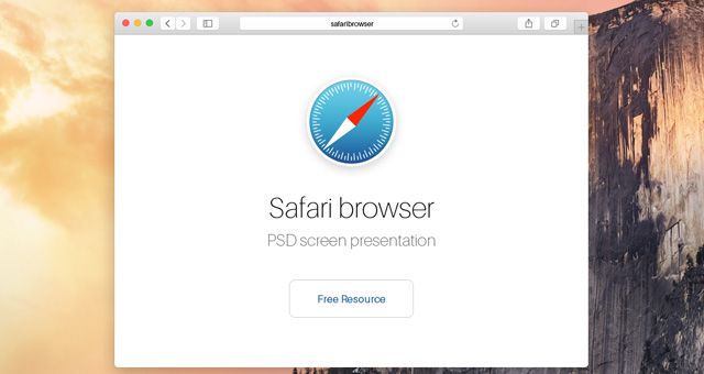 Psd Safari Yosemite Browser Mockup Psd Web Elements