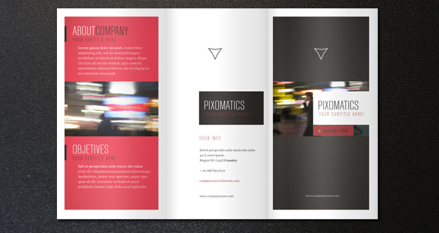 Corporate Tri Fold Brochure Template Brochure Templates Pixeden - Three fold brochure template free download