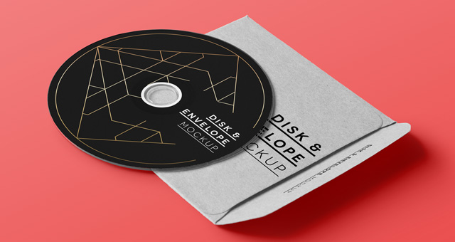 Psd Cd Disk Sleeve Mock Up | Psd Mock Up Templates | Pixeden