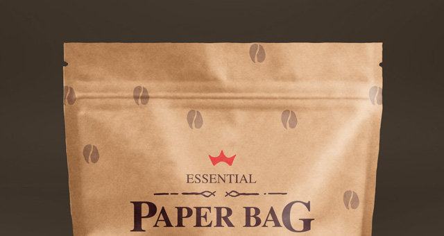 psd paper bag mock