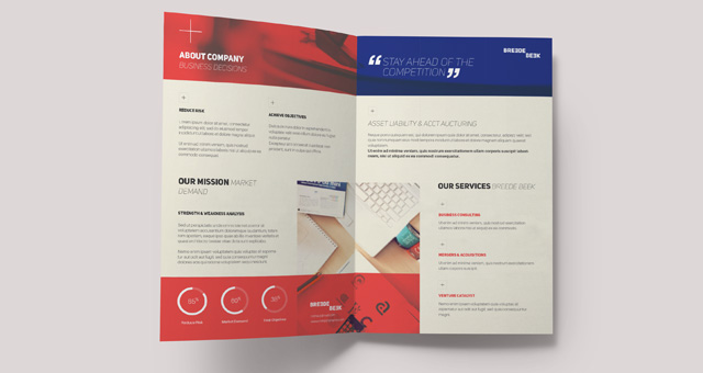 Breede Bi Fold Brochure Template Brochure Templates Pixeden - Foldable brochure template