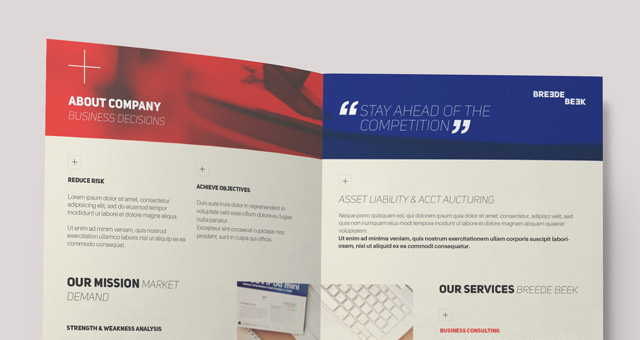 Breede Bi Fold Brochure Template  Brochure Templates  Pixeden