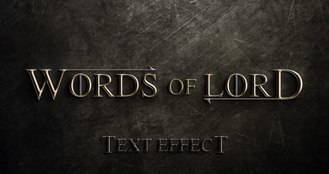 words of lord psd text effect
