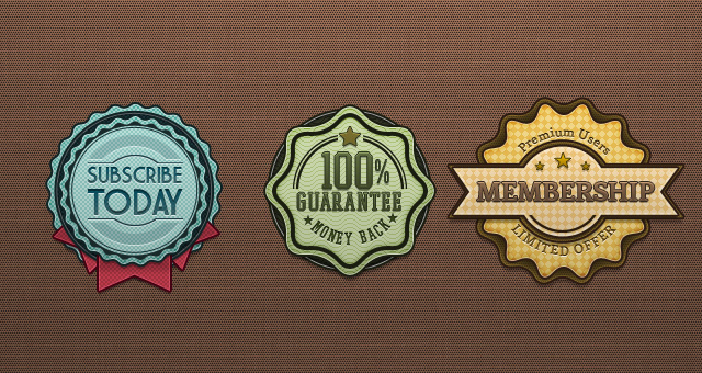 Psd Retro Badges Vintage 02