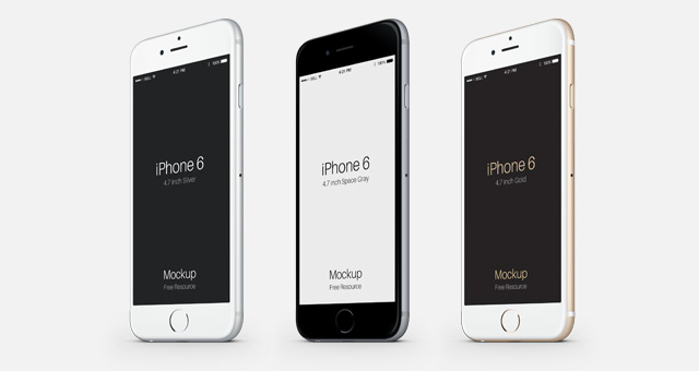 iphone 6 white and gold. 3-4 iphone 6 psd vector mockup part 2 iphone white and gold e