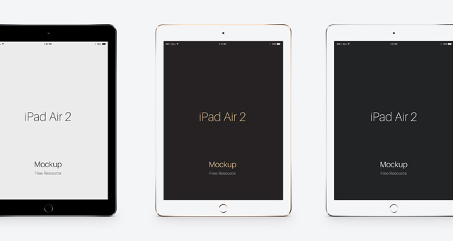 Psd iPad Air 2 Vector Mockup | Psd Mock Up Templates | Pixeden