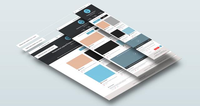 perspective responsive screens psd | psd mock up templates | pixeden, Powerpoint templates
