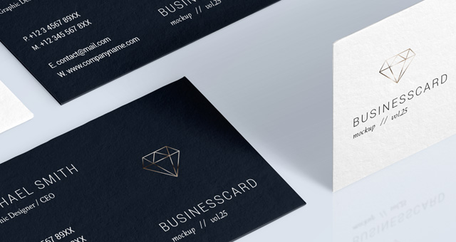 Psd business card mock up vol25 psd mock up templates pixeden psd business card mock up vol25 title title title reheart Images