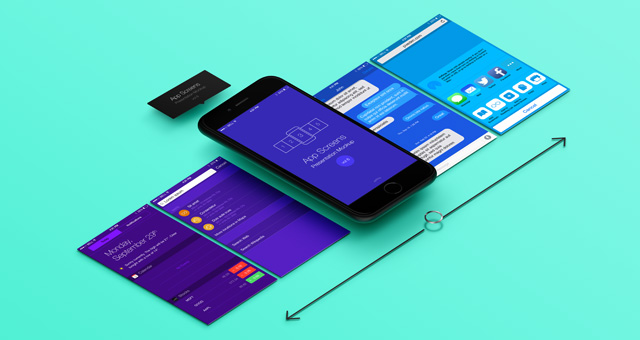 perspective app screens mock-up 8 | psd mock up templates | pixeden, Powerpoint templates