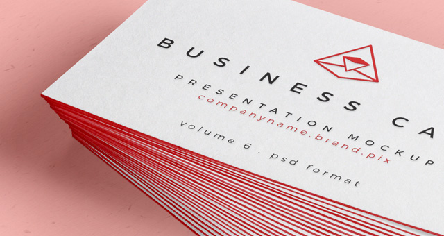 Psd business card mock up vol26 psd mock up templates for Business card presentation template psd