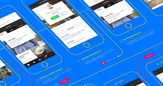 Psd Wireframe App Mockup vol2 | Psd Mock Up Templates | Pixeden