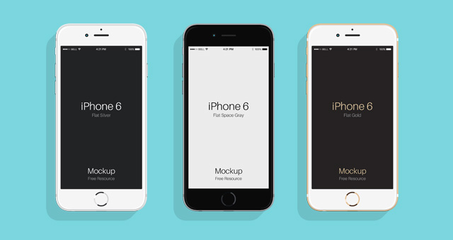 Flat Psd iPhone 6 & 6s Mockup | Psd Mock Up Templates ...