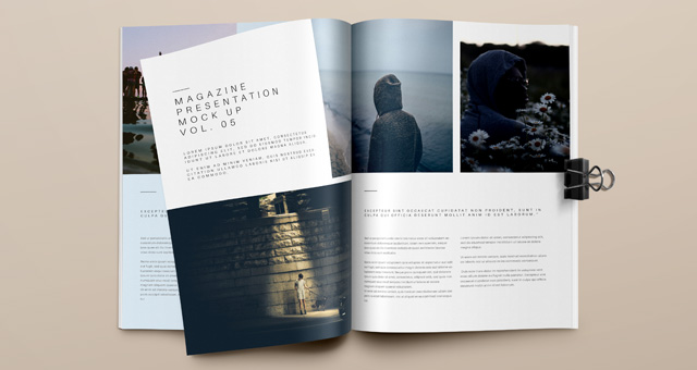 Psd Magazine Mockup View Vol5 Psd Mock Up Templates