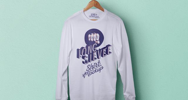 Psd Long Sleeve T Shirt Mockup Vol1 Le