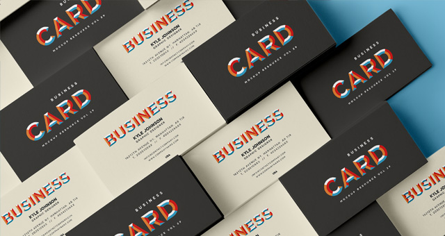 Psd business card mock up vol29 psd mock up templates for Business card presentation template psd