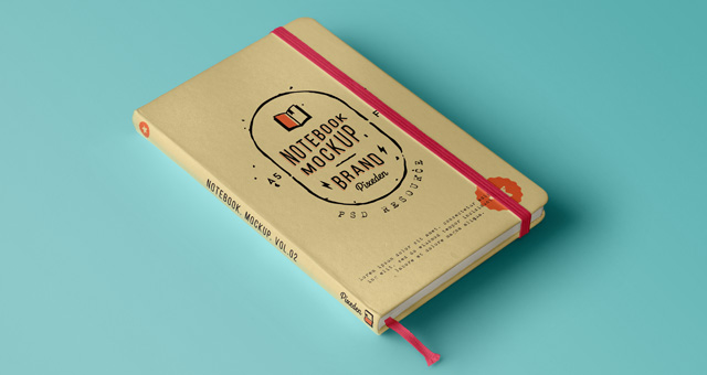 Classic Psd Notebook Mockup Vol2