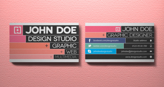 Creative Business Card Vol Business Cards Templates Pixeden - Graphic design business card templates