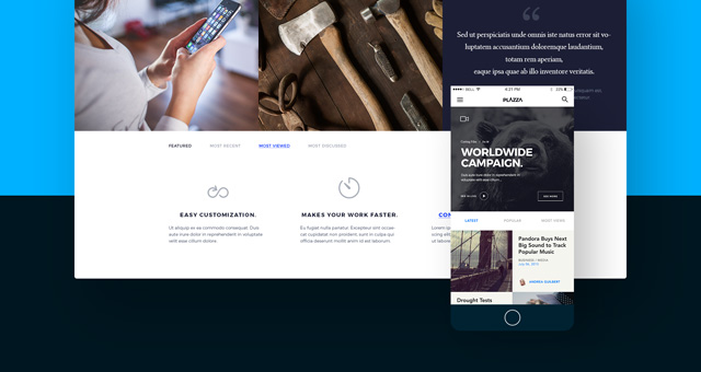 ui design psd project showcase