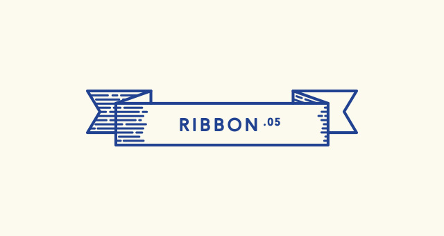 retro outline ribbon vector set
