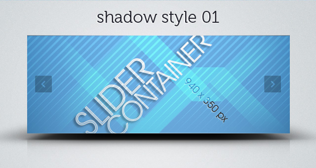 Web Slider Psd Shadows Pack   Psd