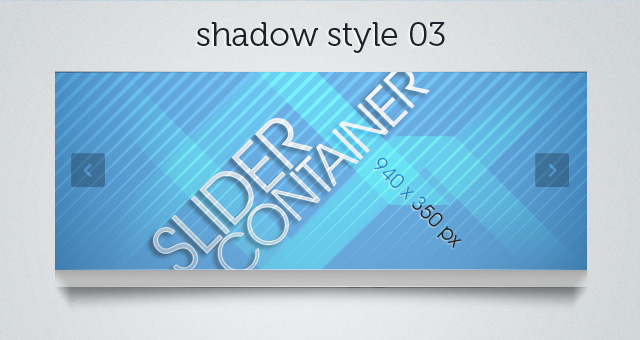 Web Slider Shadow 03