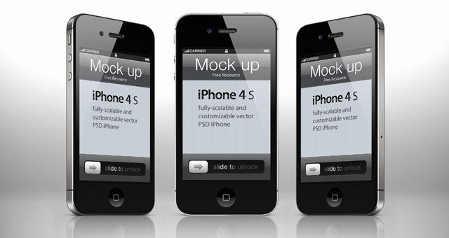 iPhone 4s Psd Vector Mockup Template | Psd Mock Up ...Iphone 4 Template