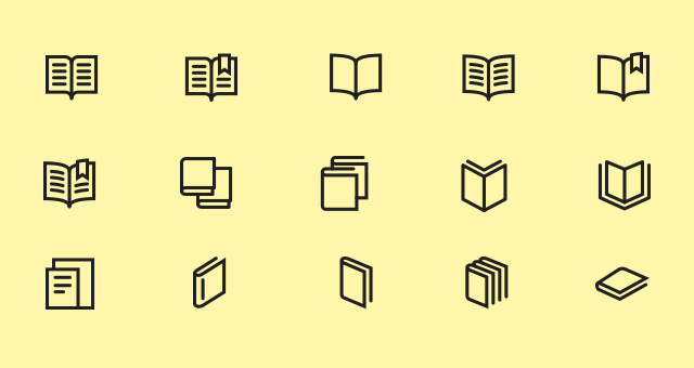 The Icons Set    Books and Text
