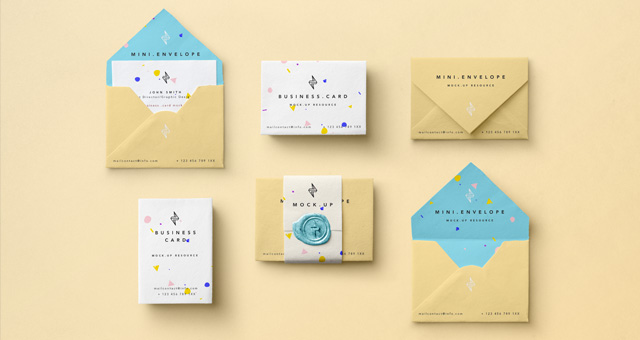 Mini Envelope Psd Mockup | Psd Mock Up Templates | Pixeden
