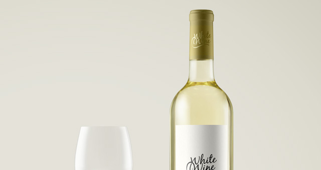 Psd White Wine Bottle Mockup Vol2 Psd Mock Up Templates
