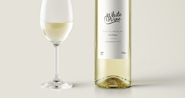 psd white wine bottle mockup vol2 psd mock up templates pixeden. Black Bedroom Furniture Sets. Home Design Ideas