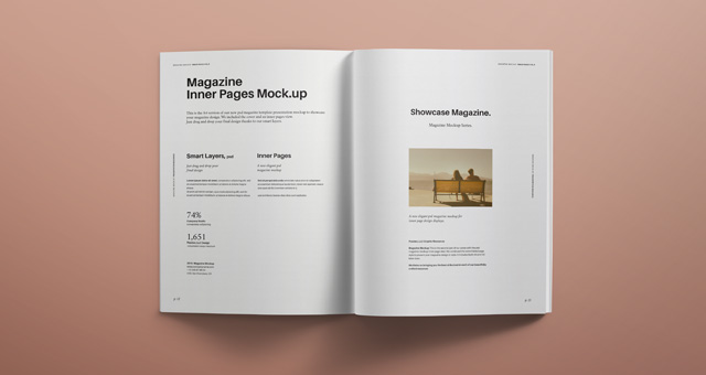 psd magazine mockup view vol6