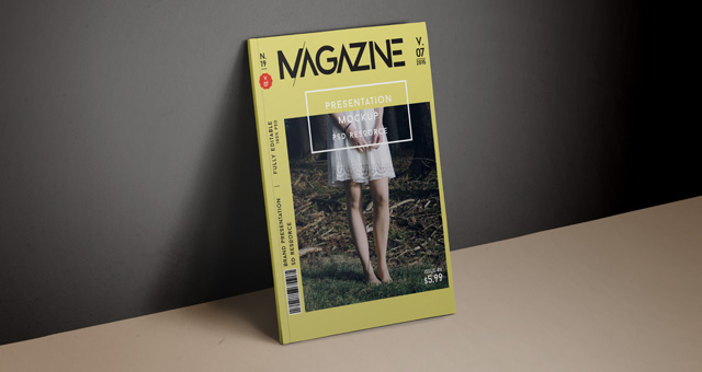 Psd Magazine Mockup Cover Vol7 Psd Mock Up Templates