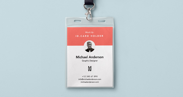 Psd Identity Card Holder Mockup | Psd Mock Up Templates | Pixeden