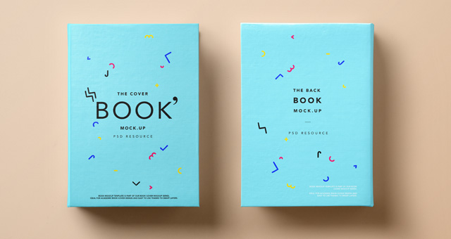 Psd Hardback Book Cover Mockup | Psd Mock Up Templates | Pixeden