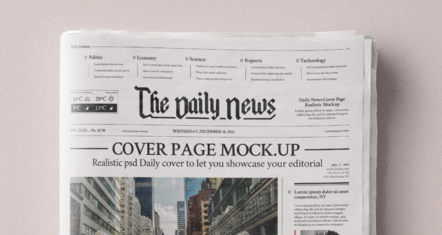 Daily Newspaper Psd Mockup  Psd Mock Up Templates  Pixeden