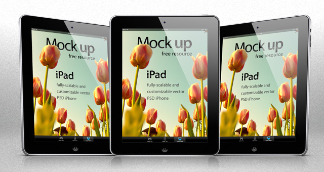 ipad psd vector mockup template | psd mock up templates | pixeden, Powerpoint templates