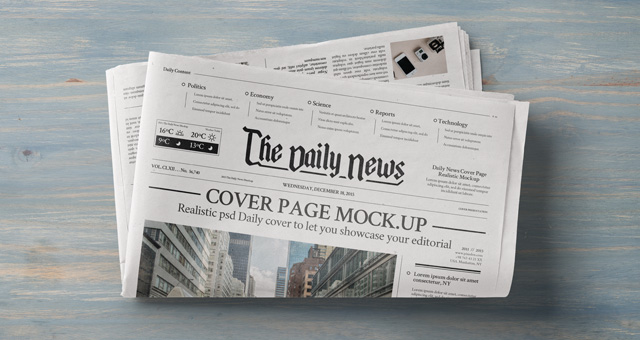 Daily Newspaper Psd Mockup Vol  Psd Mock Up Templates  Pixeden