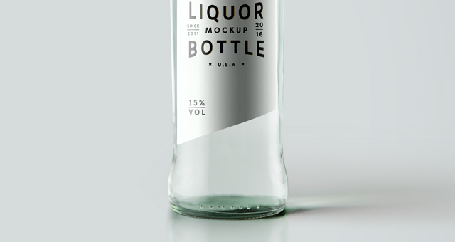 psd liquor bottle mockup