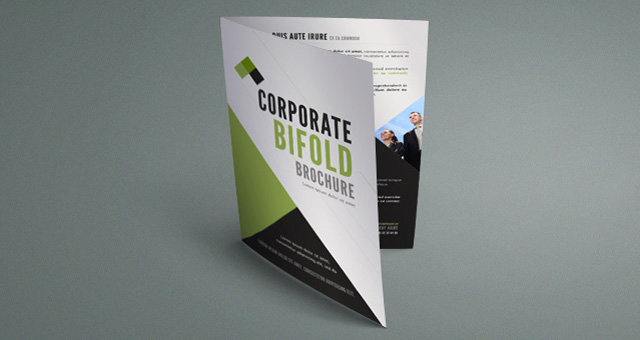 Corporate Bi Fold Brochure Template Brochure Templates Pixeden - Foldable brochure template