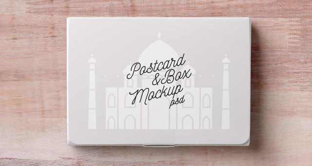 Psd Postcard Box Mockup Psd Mock Up Templates Pixeden