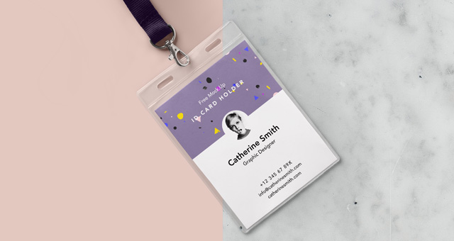 Psd Identity Card Holder Mockup Vol Psd Mock Up Templates Pixeden - Id badge template photoshop