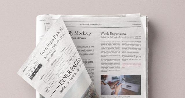 daily newspaper psd mockup vol4