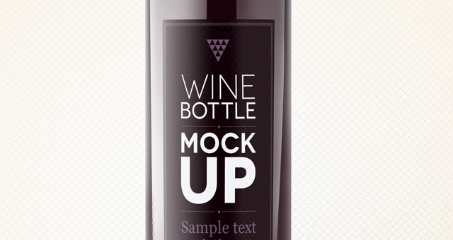 Template for wine bottle labels