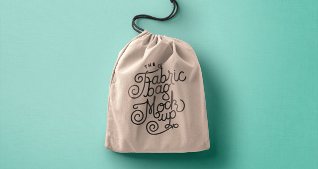 Drawstring Psd Bag Mockup Vol2 | Psd Mock Up Templates | Pixeden