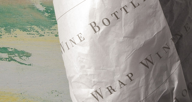 wine bottle psd paper wrap
