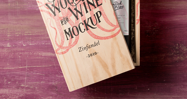 Psd Wine Wood Box Mockup Vol2. Title Title ... : wooden wine boxes free - Aboutintivar.Com