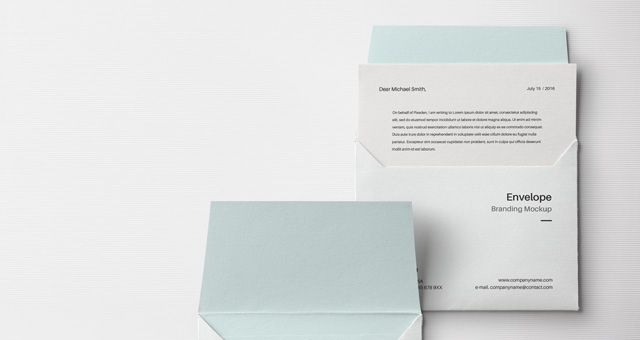 Envelope Letter Psd Mockup Vol3 Title