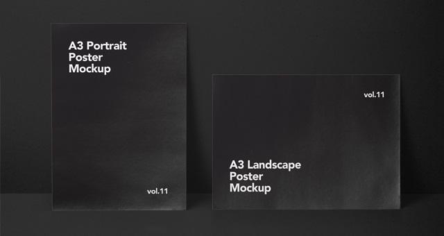 a3 psd poster mockup vol11