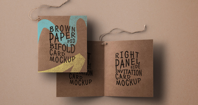 Psd Kraft Paper Invitation Card Psd Mock Up Templates – Invitation Card Paper